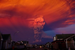 Eruption of Chilean Calbuco volcano